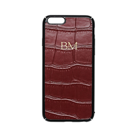 BURGUNDY SAFFIANO IPHONE COVER 6 & 6S