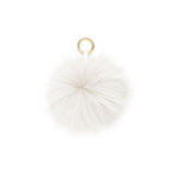 OFF WHITE POM POM FOX FUR  KEY RING