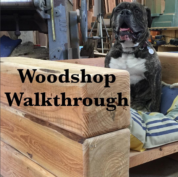 Woodshop Walkthrough - Beam chairs & Patchwork table