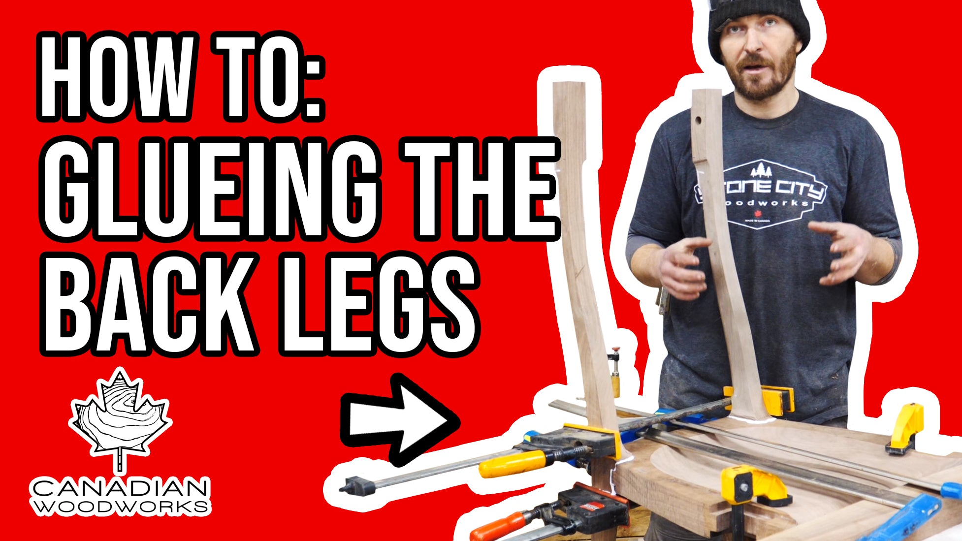 Glueing the Back Legs on my Dining Chair #8