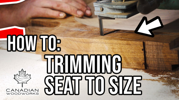 Trimming the Seat to Size on my Dining Chair #8