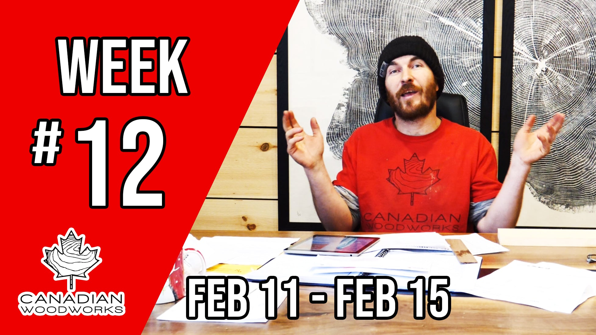 Weekly Re-cap video #12 Leg Shaping, MORE Shou Sugi Ban, & Legacy Lumber hit 100 SUBSCRIBERS!!