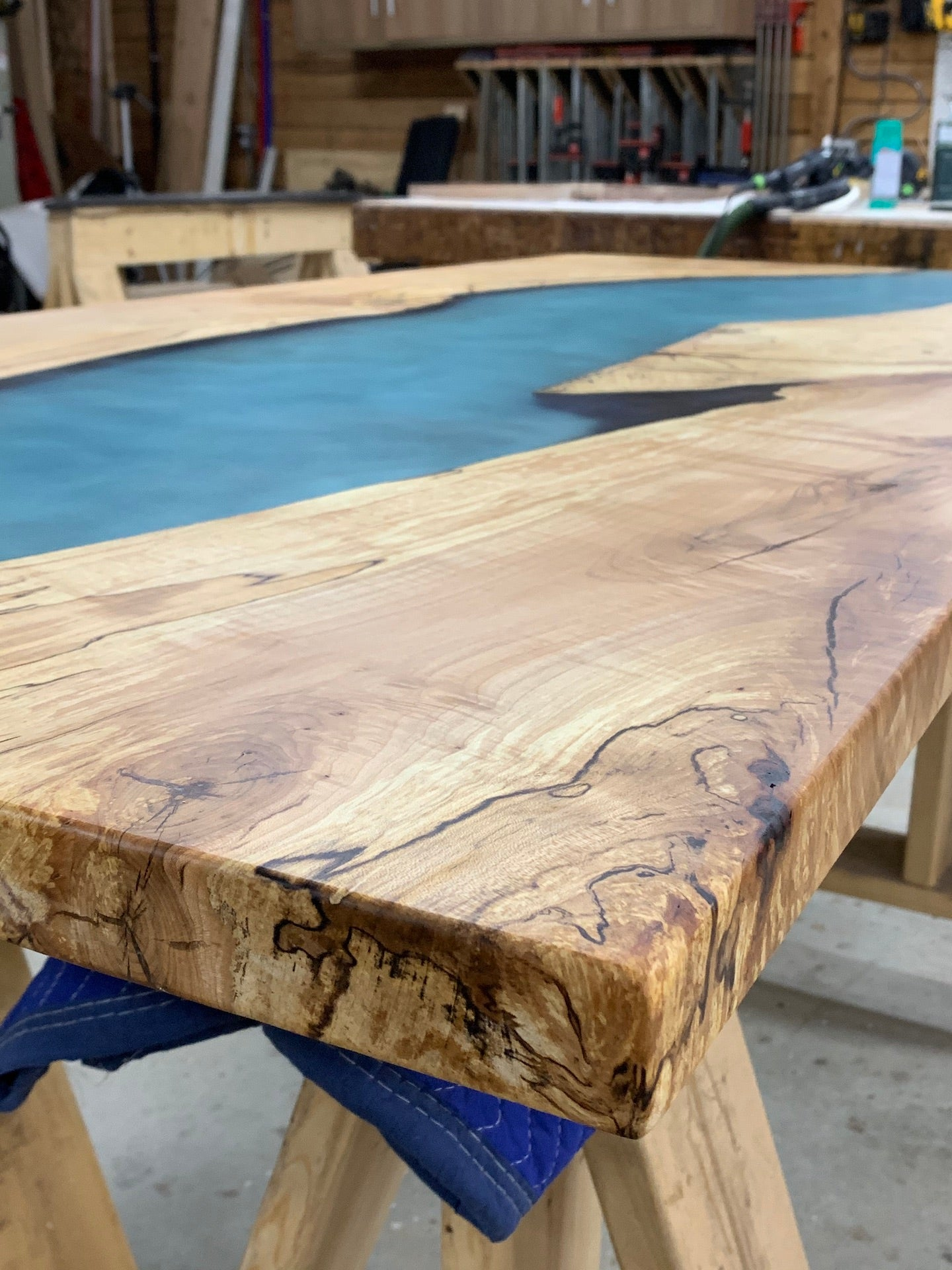 Maple Epoxy River Dining Table Canadian Woodworks
