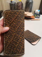Elephant Skin Antique Saddle color Long wallet