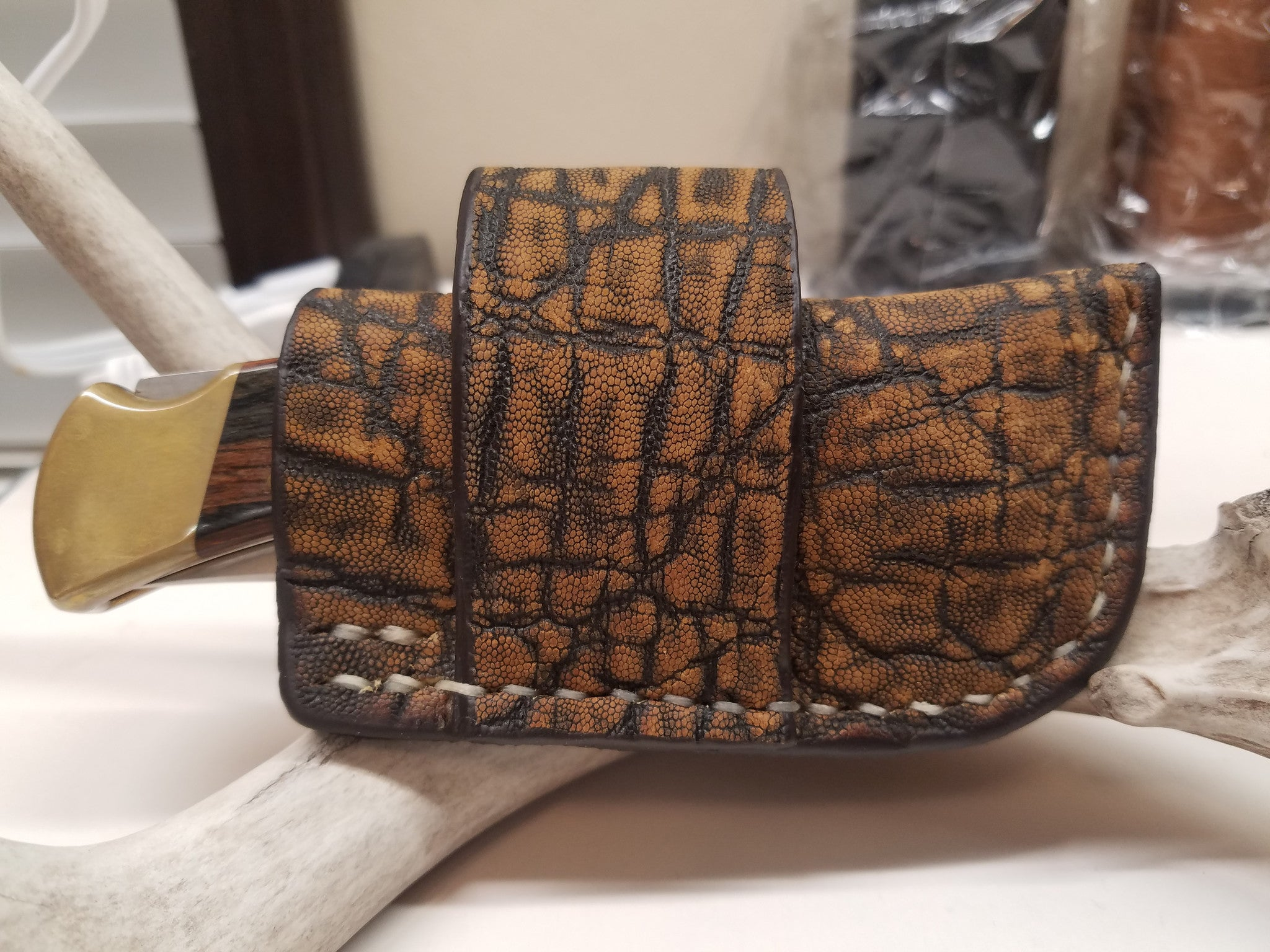 buck 110 elephant skin sheath