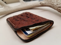 Caiman Skin Brown Minimalist Front Pocket Wallet