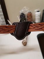 Shark skin brown knife sheath