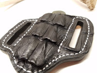 Caiman Tail Skin Small Sheath Black Color