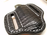 Alligator Belly Skin Small knife Sheath Black Color