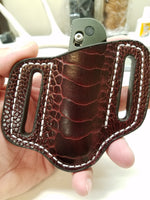 ostrich leg skin knife sheath