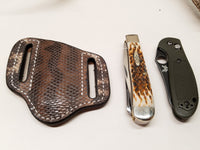 Karung Snake skin Small Knife Sheath Natural color