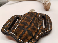 Elephant skin small sheath antique saddle color