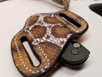 Cobra Snake Skin Small Sheath-Hand painted Multicolor