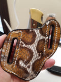 Cobra Snake Skin Large Sheath-Hand painted Multicolor