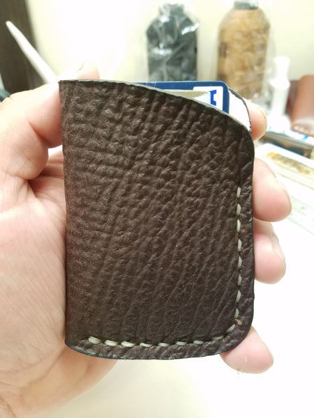 Shark Skin Minimalist Front Pocket Wallet- Brown
