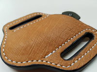 Ostrich Smooth Small Sheath-Cognac