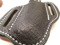 Ostrich Smooth skin Large sheath-Black
