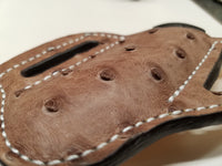 Ostrich skin Large Sheath- Mink