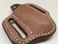 Ostrich Smooth Skin Small Sheath- Mink