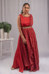 Suave Red Colored Gown