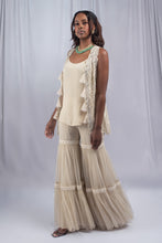 Load image into Gallery viewer, Ritika Mirchandani Beige Colored Fusion Set