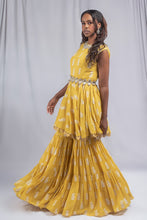 Load image into Gallery viewer, Bhumika Sharma Yellow Colored Fusion Set
