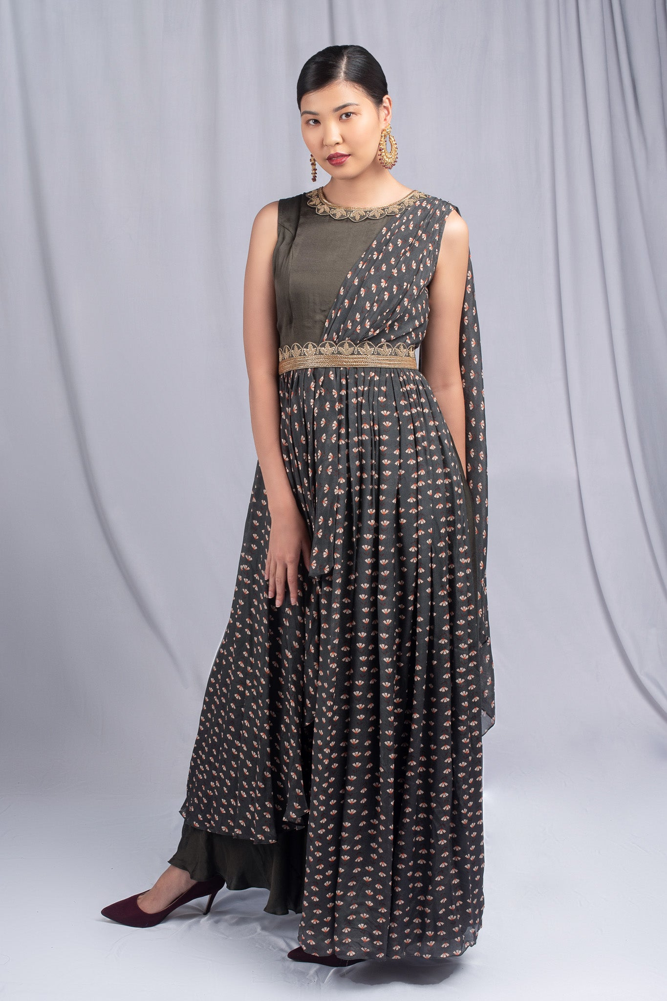 Suave Grey Colored Gown