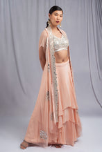 Load image into Gallery viewer, Ritika Mirchandani Coral Colored Fusion Set
