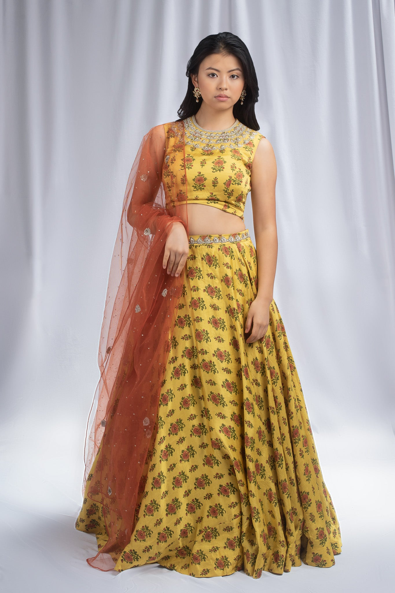Bhumika Sharma Yellow Colored Lehenga