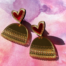 Load image into Gallery viewer, Anisha Parmar LIMITED EDITION HEART JHUMKA EARRINGS