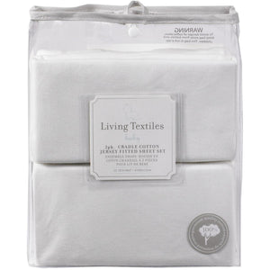 Living Textiles 2 Pack Cradle Fitted Sheet - Jersey - Molly's Baby Room