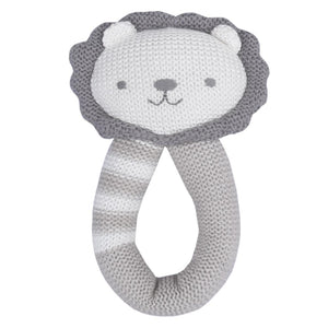 Austin Lion Knitted Rattle