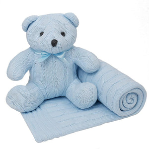 Living Textiles Cable Knit Blanket & Toy Set - Molly's Baby Room