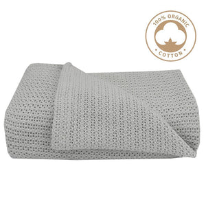 Living Textiles Organic Bassinet/Cradle Cellular Blanket - Molly's Baby Room