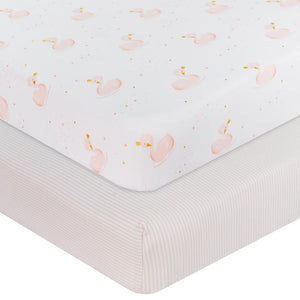 Living Textiles 2-Pack Jersey Cot Fitted Sheet