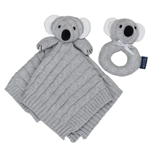 Living Textiles Security Knit Blanket & Rattle Gift Set - Molly's Baby Room