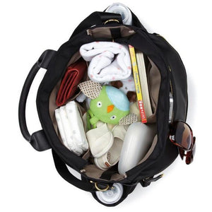Skip Hop Chelsea Downtown Chic Diaper Satchel - Black - Molly's Baby Room