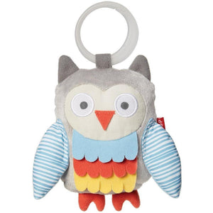 Skip Hop Treetop Friends Wise Owl Stroller Toy - Grey / Pastel - Molly's Baby Room