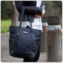 Vanchi Lucca Mini Tote in Black - Molly's Baby Room