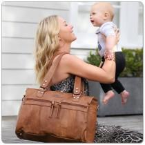 Vanchi Indie Holdall-Tan - Molly's Baby Room