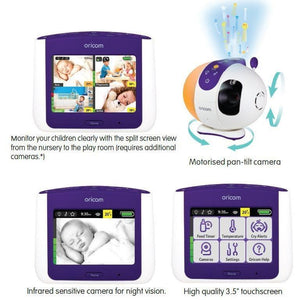 "Oricom Secure870 3.5"" Touchscreen Monitor with Starry Lightshow - Molly's Baby Room"