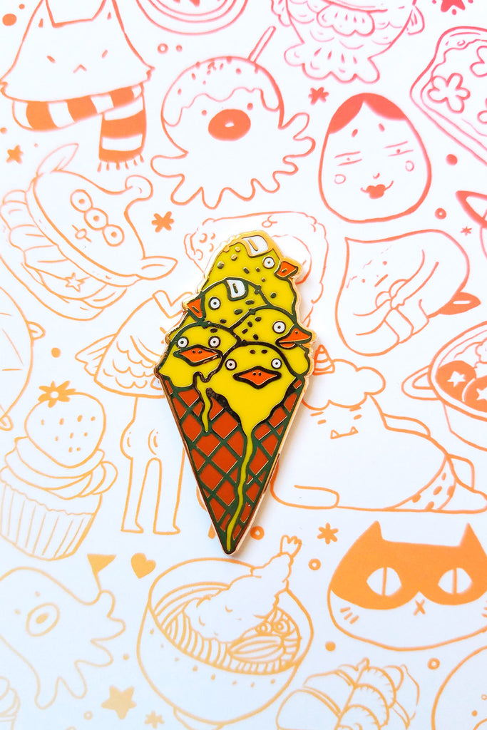 Chicken Ice Cream Enamel Pin