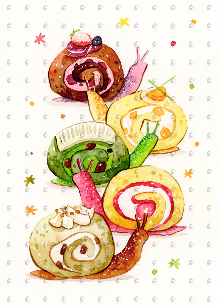 Cake Roll Snails