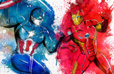 Captain America VS Iron Man Poster Print