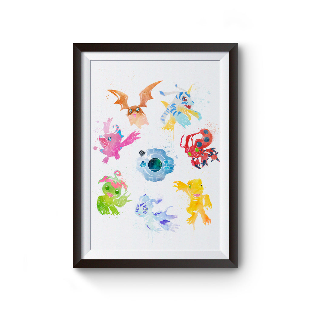 Digimon Watercolor Art