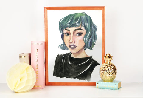 PenelopeLovePrints Green Hair Punk Girl prints - 1