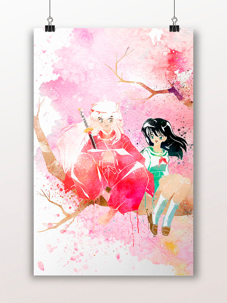 Inyasha and Kagome Under Sakura