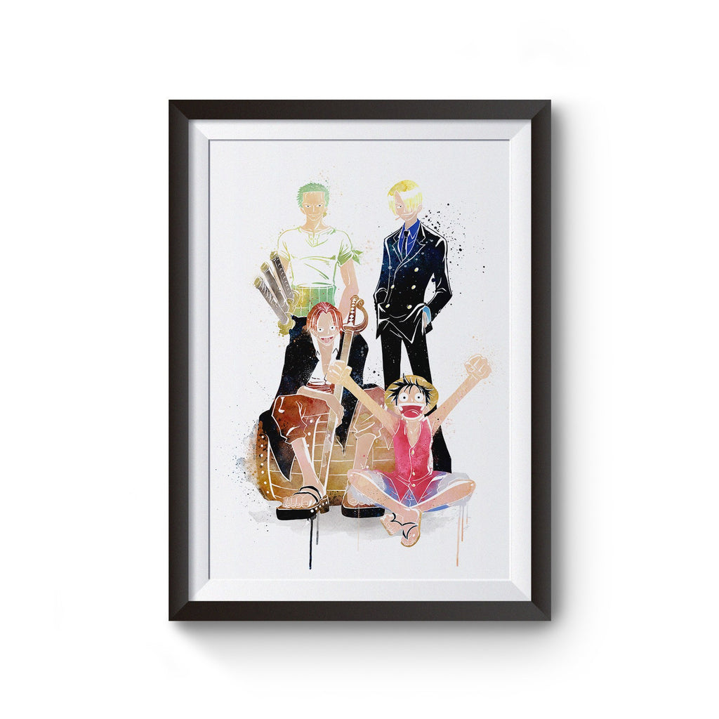 PenelopeLovePrints One Piece with Luffy, Kenji, Zoro, and Shank prints - 1
