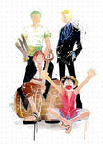 PenelopeLovePrints One Piece with Luffy, Kenji, Zoro, and Shank prints - 3