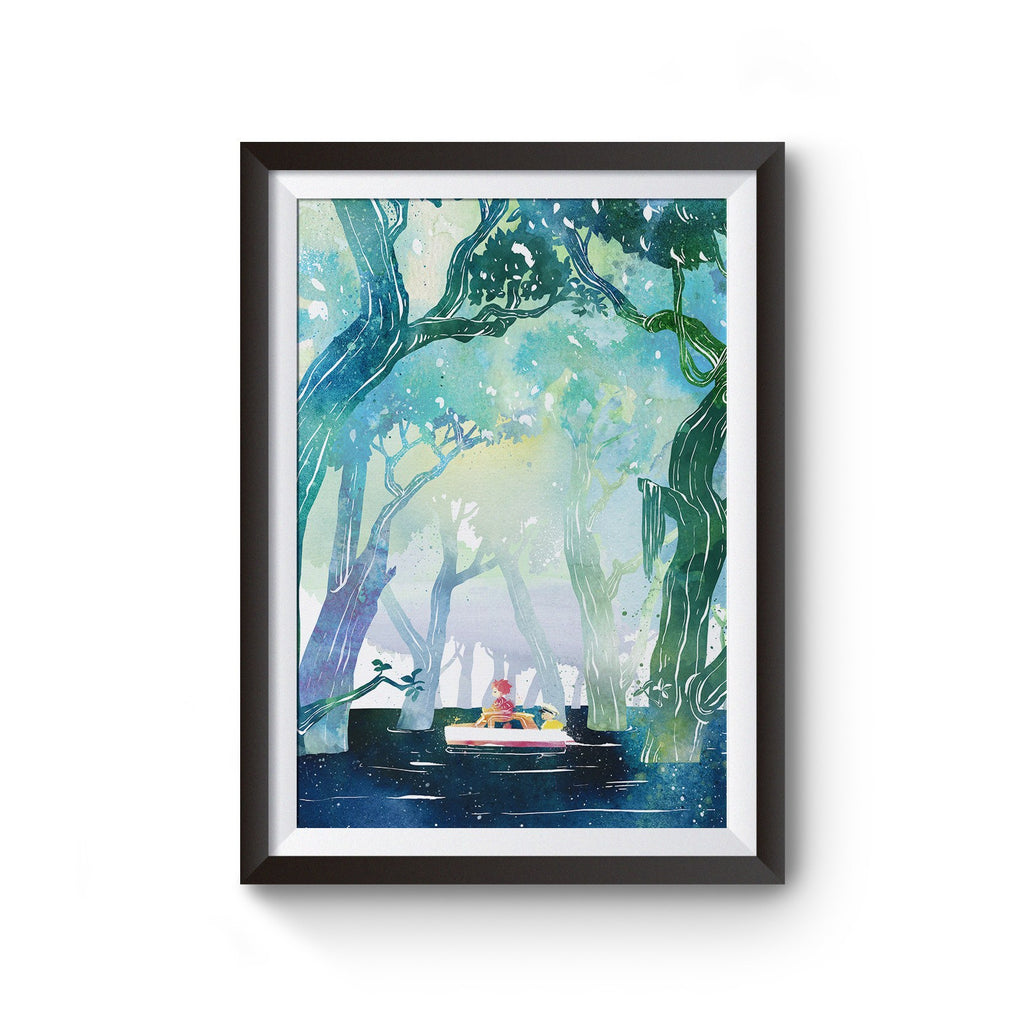 PenelopeLovePrints Ponyo and Sousuke At Sea  - 1